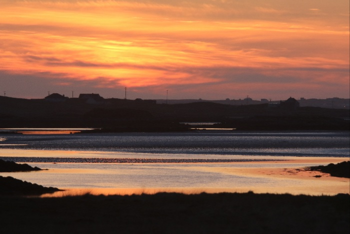 Sunset at Lochbay, Grimsay