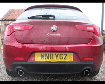 Alfa Romeo Giulietta with detachable towbar removed.