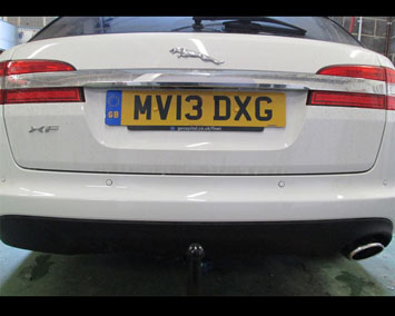Jaguar XF with detachable piece in place