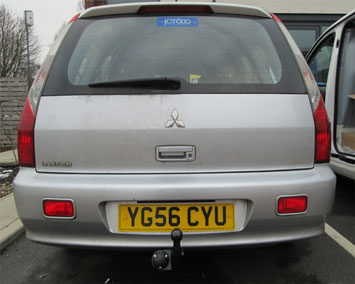 Mitsubishi Lancer estate swan neck towbar