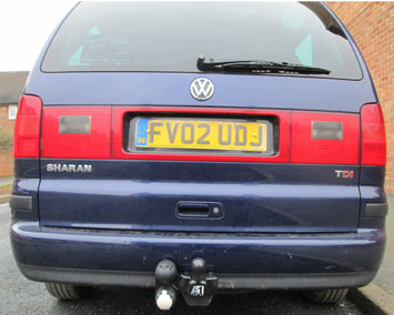 Fixed towbar on VW Sharan