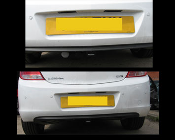 Detachable towbar with hideaway socket