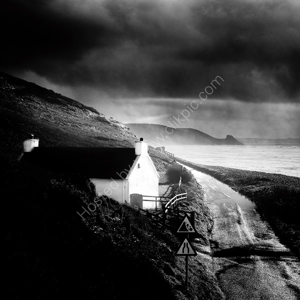 124 Storm Light At Newgale B&W