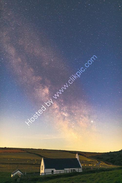 199 Milky Way Over Eglwys y Grog At Mwnt