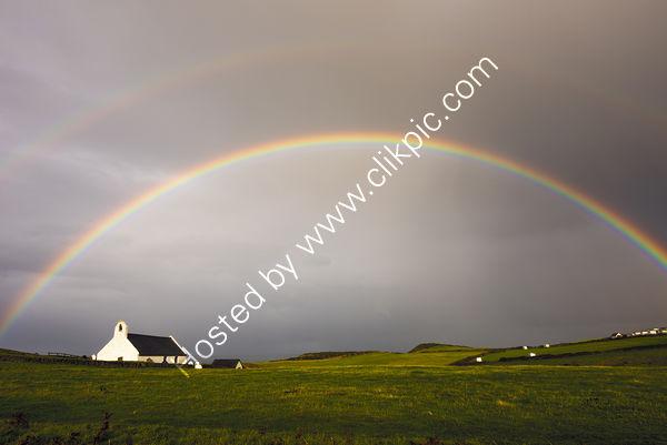 55 Rainbow Over Eglwys y Grog At Mwnt