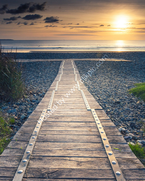 107 A Boardwalk Sunset Newgale