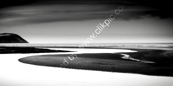 Nevern Estuary At Newport B&W