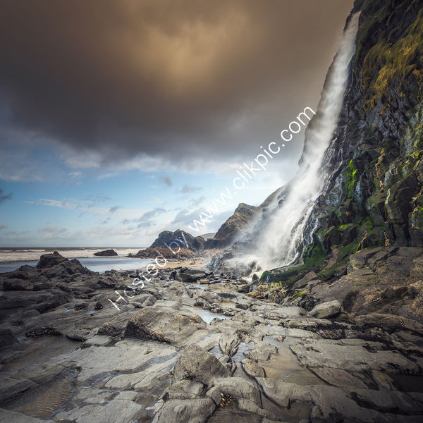 Photographing The Wind At Tresaith