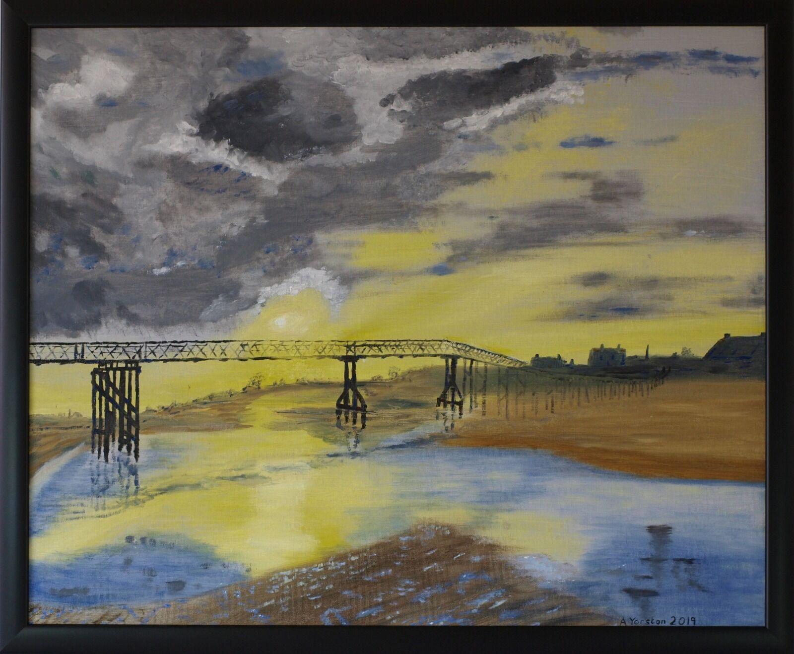 Lossiemouth Sunrise. 595mm x 493mm. Oil