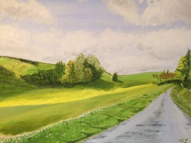 Wolds View. 254mm x 203mm. Oil. £25