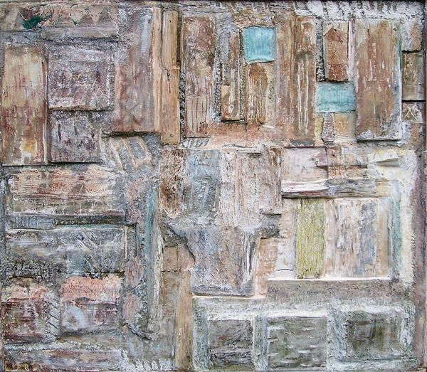 'A Glimpse of Blue Sky' (mixed media on board) 2005 90cm x 84cm