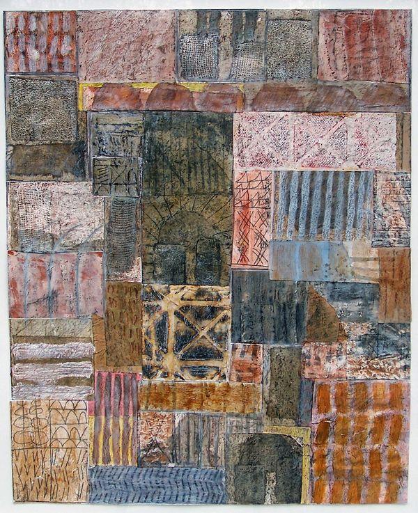'Awakening' (mixed media on paper) 2005 47cm x 55cm