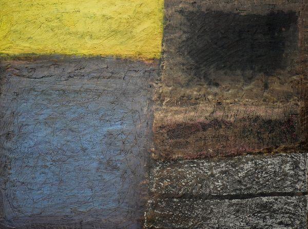 'Dark Sun' (mixed media on board) 2018 30cm x 25cm