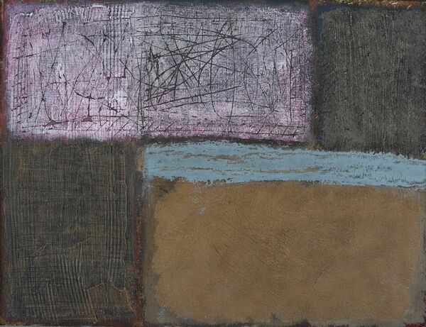 'From the Opposite Loft' (mixed media on board)