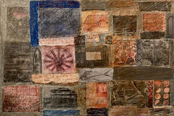 'Memories Of Coney Island (mixed media on board) 2021 27cm x 18cm