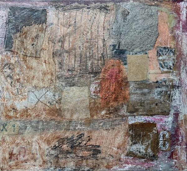'Memories of Bologna' (mixed media on board) 30cm x 27cm