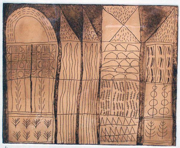 'Midnight Air' (etching) 2006 18cm x 18cm