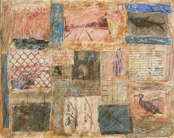 'Palimpsest' (mixed media on paper) 2021  21cm x 17cm