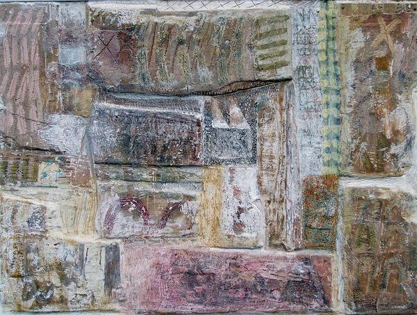 'Sanctuary' (mixed media on board) 2004 85cm x 82cm