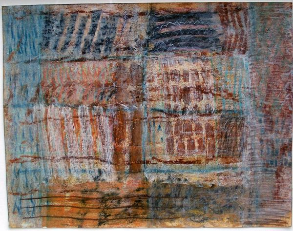 'South Bank Shoreline 1' (mixed media on paper) 2005 24cm x 19cm