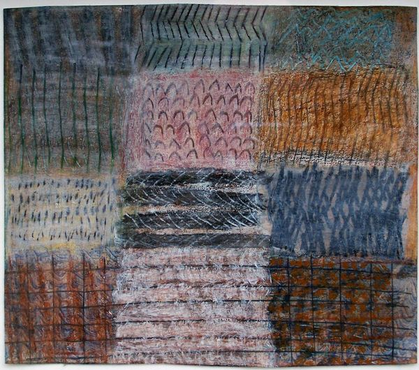 'South Bank Shoreline 3' (mixed media on paper) 2005 24cm x 19cm