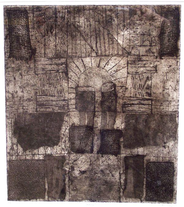 'Sunrise' (collograph) 2006 36cm x 40cm