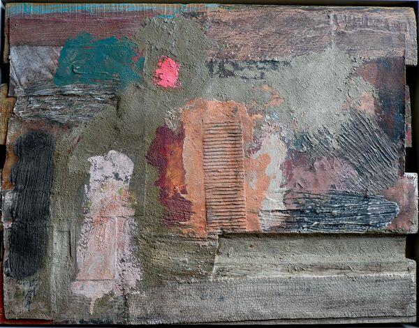 'Totem' (mixed media) 2020 50cm x 38cm