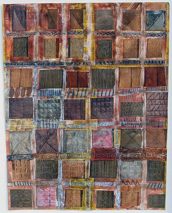 'Windows' (mixed media on paper) 2006 30cm x 40cm