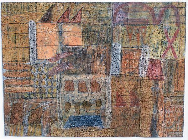 'Winter Rhythm' (mixed media on paper) 2006 42cm x 32cm