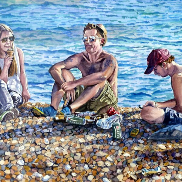 Chilling on Brighton Beach