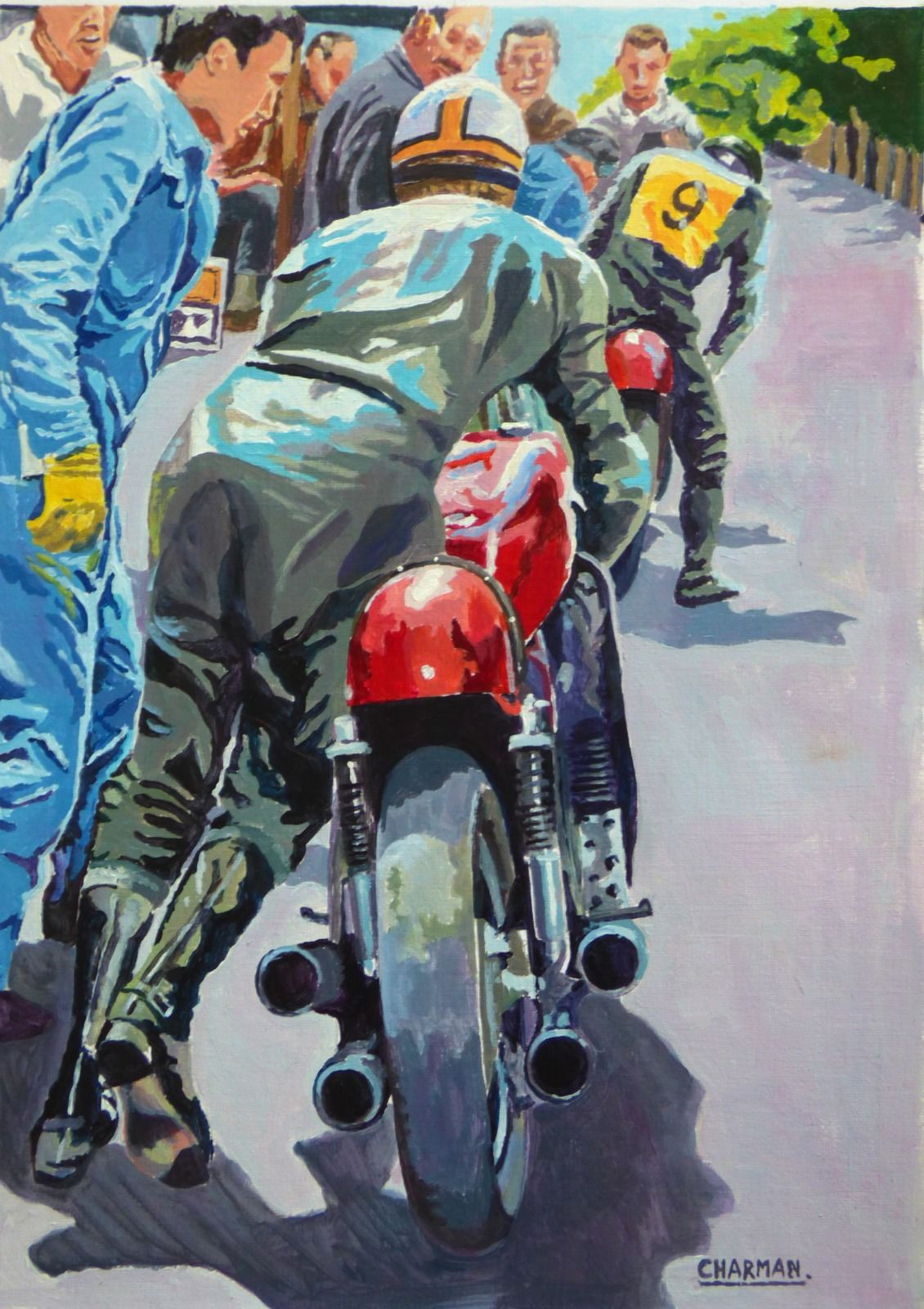 Hailwood and Ago pit stop