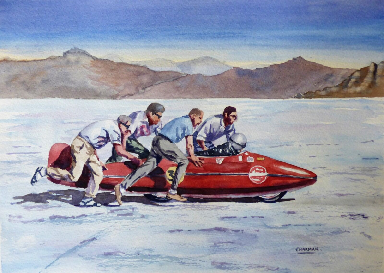 'Get Her Going Lads' - Bonneville Salt Flats