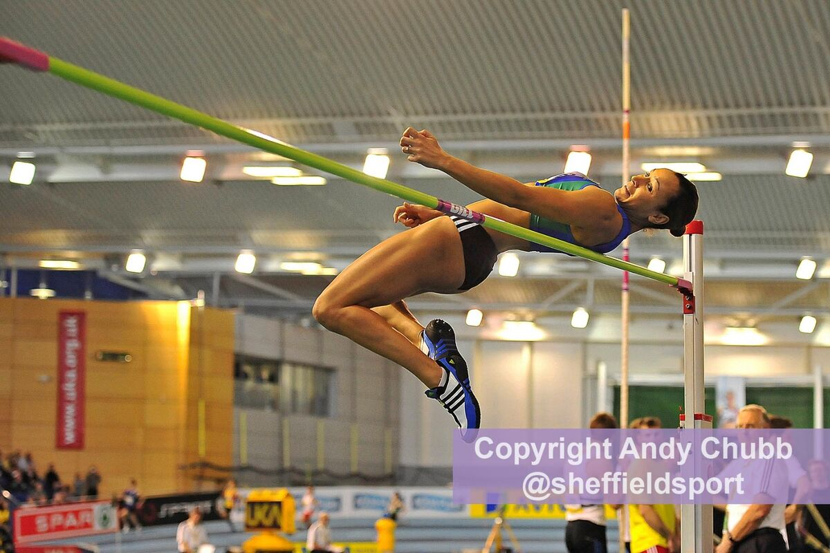 Jessica Ennis, high jump, UK Championships, EIS Sheffield, Feb 2011