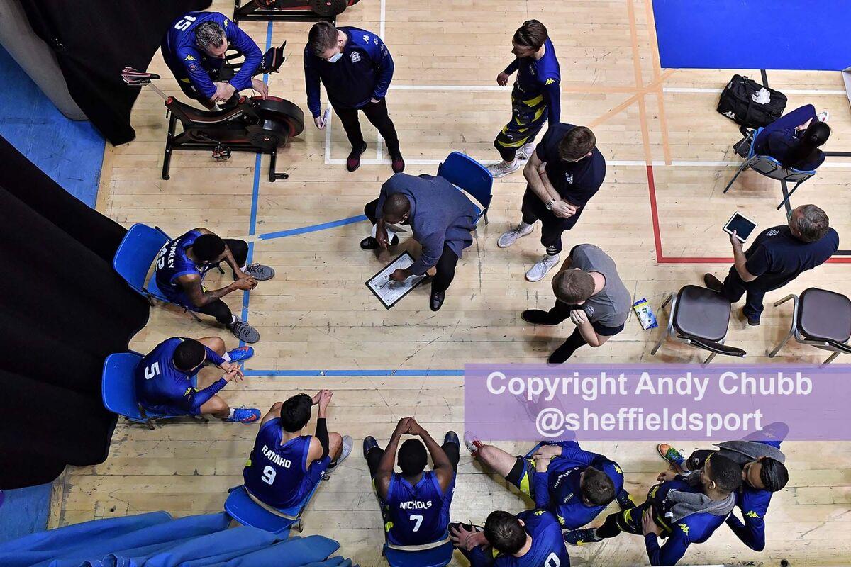 Time-out, Sheffield Sharks, Ponds Forge, Sheffield, Jan 2021