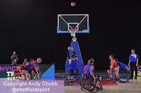 Wheelchair basketball, Invictus trials, EIS Sheffield, July 2019