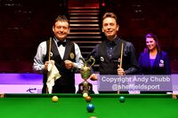 Jimmy White and Ken Doherty, final World Seniors snooker, Crucible Theatre, Sheffield, August 2019