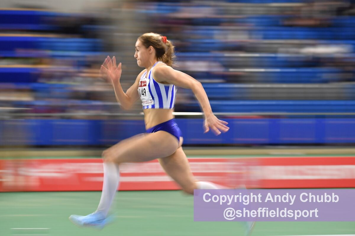 Holly Mills, long jump, England Athletics Combined Event, EIS Sheffield, Jan 2019