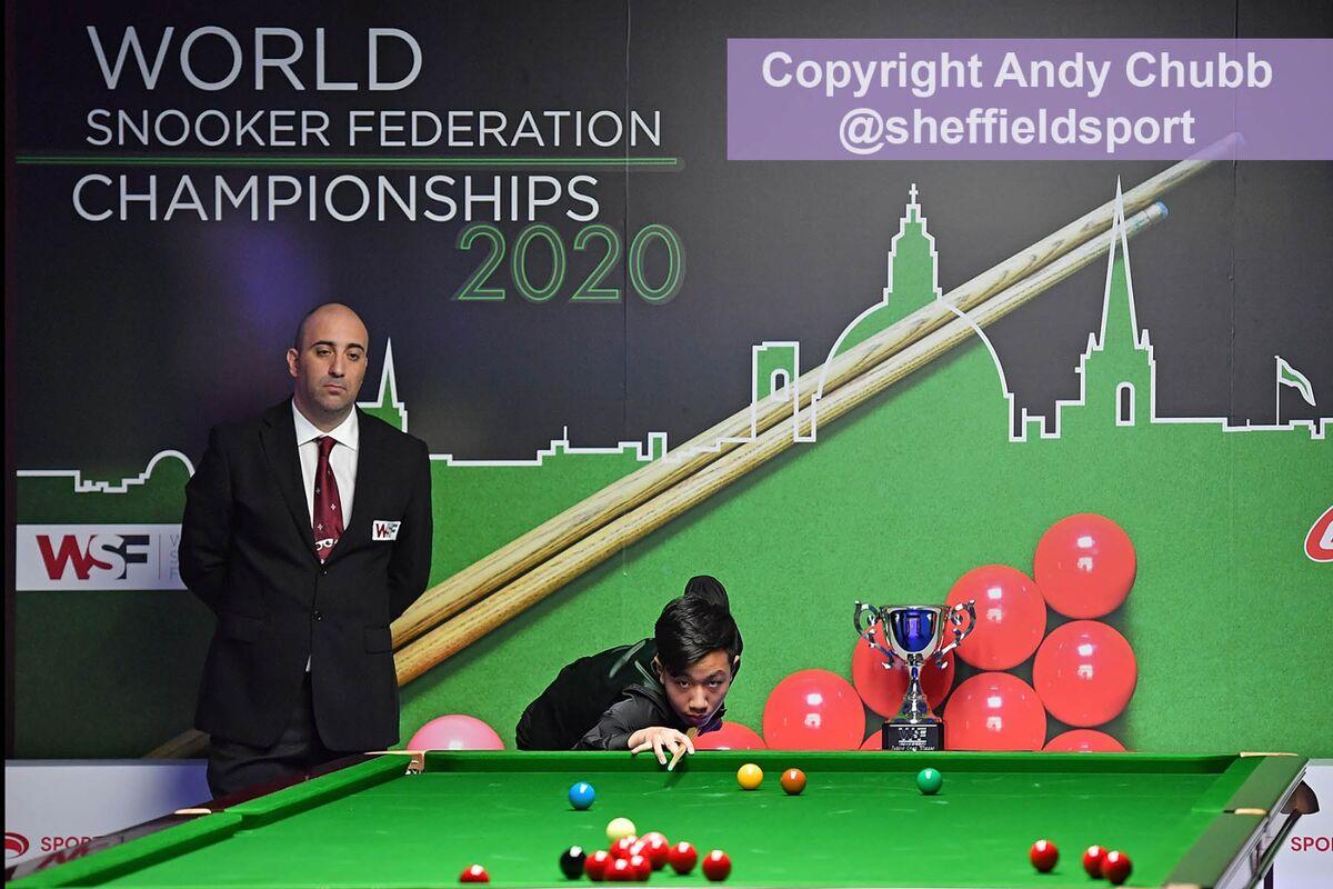 Gao Yang, winner, World Snooker Federation, Malta, Jan 2020