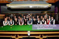 World Women's Snooker line up, Leeds, Sept 2018