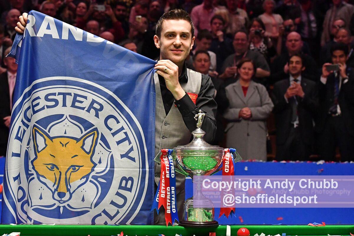 Mark Selby, winner World Snooker Championship, Crucible Theatre, Sheffield, April 2016