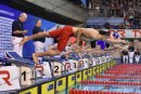 The start of the Mens Junior 200m IM_7298