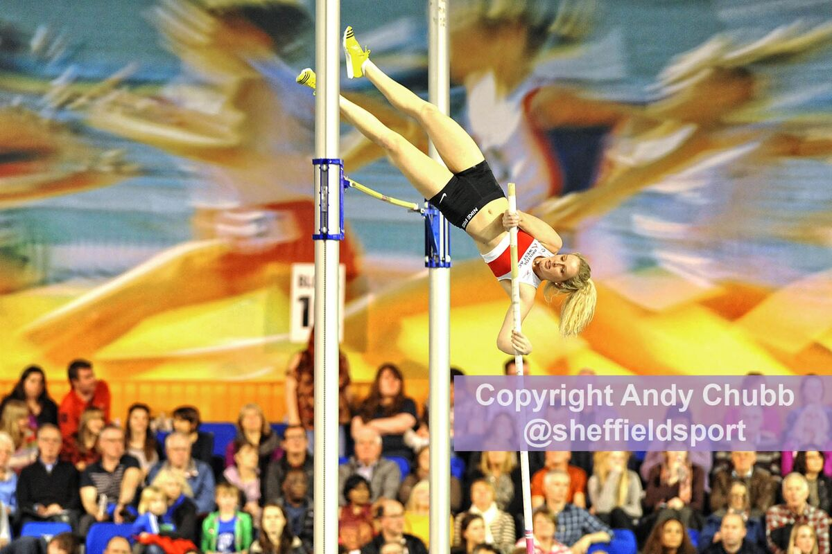 Lucy Bryan, Pole Vault, UK Indoor Championships, EIS Sheffield, Feb 2014