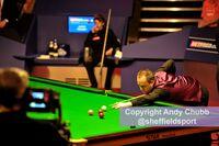 John Higgins on his way to beating Judd Trump, World Snooker Championship, Crucible Theatre, Sheffield, May 2011