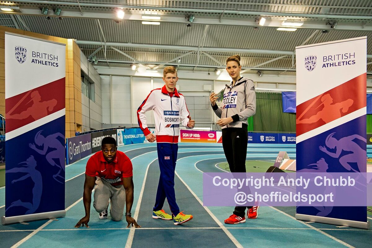 Press call, UK Indoor Championships, EIS Sheffield, Feb 2016