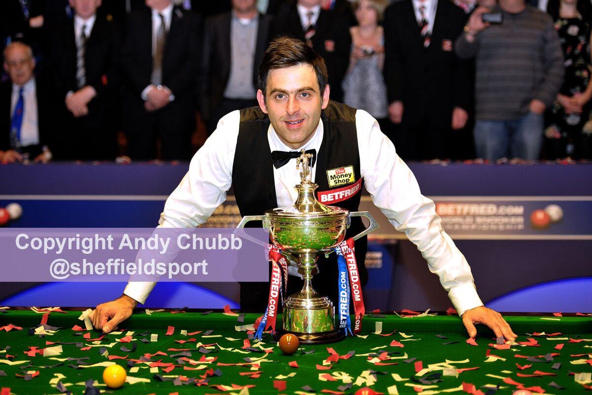 Ronnie O'Sullivan, winner World Snooker Championship, Crucible Theatre, Sheffield, May 2012