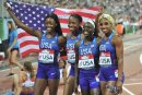 USA Womens 4x400m relay 9643