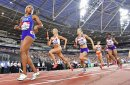Womens 4x400m relay change