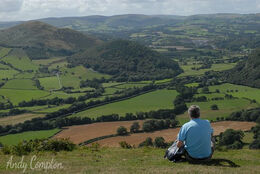 A view of East Powys off Bradnor Hill