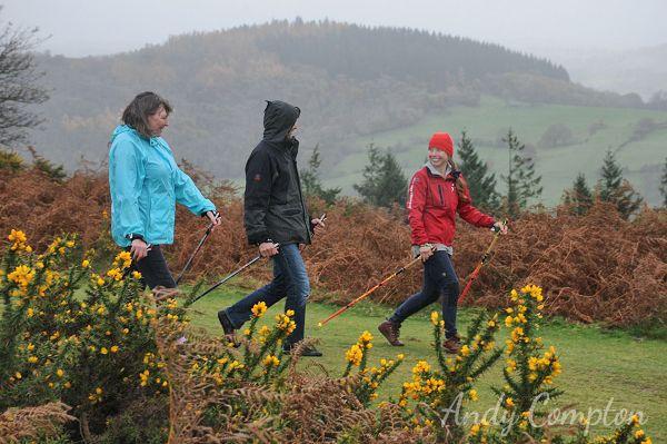 Nordic Walking on Hergest Ridge with Ali from the Walking Hub