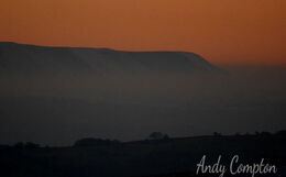 Black Mountains sunset from Hergest Ridge